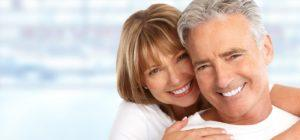 Happy Loving couple close up. Healthy white smile.